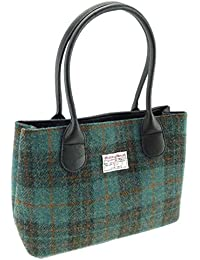 Echte, klassische Damenhandtaschen LB1003, aus Harris Tweed