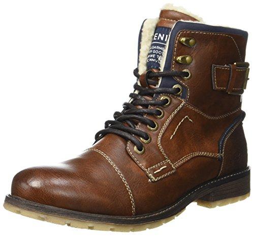 Tom Tailor Herren 3785903 Klassische Stiefel, Braun (Cognac), 41 (Herren Stiefel)