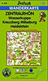 Zentralrhön: Wasserkuppe, Kreuzberg, Milseburg, Heidelstein (Fritsch Wanderkarten 1:35000) -