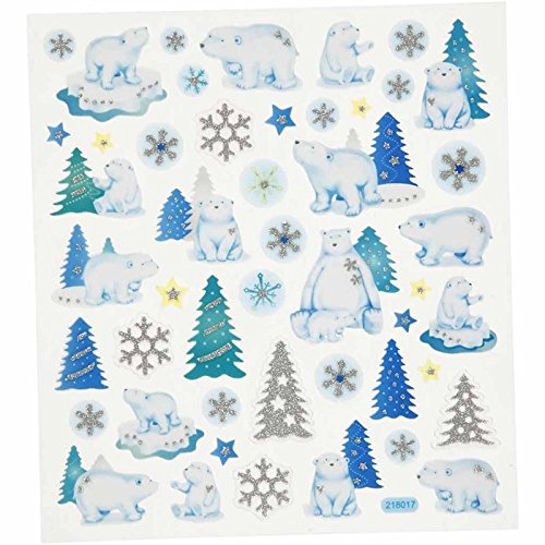 BUDILA® Glittersticker Eisbären (Eisbär Eisbär)
