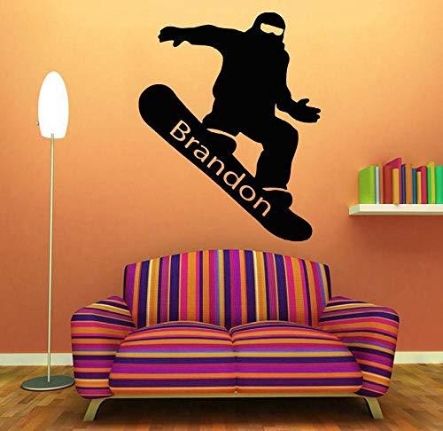 Wandtattoo Vinyl Raumdekoration Snowboarden Kunst Abnehmbare Aufkleber Boy Room Decor 57 * 72 cm