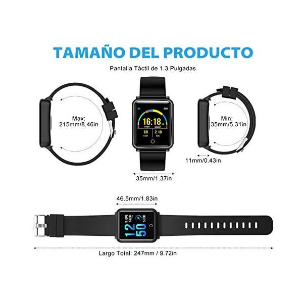 Seneo Reloj Inteligente Hombre, Reloj de Seguimiento de Actividad, Podómetro Deportivo con Monitor de Ritmo Cardíaco Monitor de Sueño para Teléfonos Inteligentes Android o iOS 7