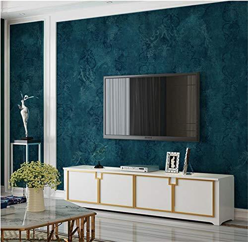 Papier peint rétro marbré papier peint uni salon salle à manger chambre TV fond d'écran papier peint rétro paon bleu