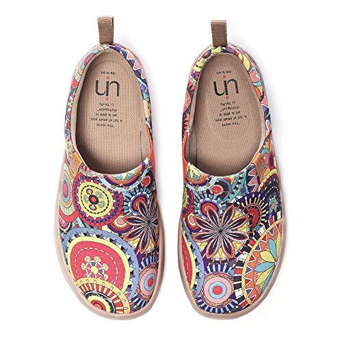 UIN Blanco Zapatillas Granada de Tinta el Naturalista Comodos Verano Planos Mujer Blossom 41