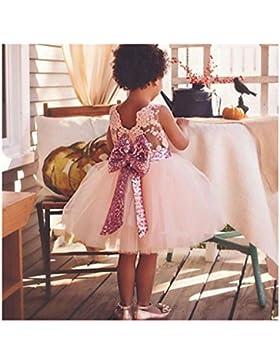 Baby Mädchen Bowknot Spitze Prinzessin Rock Sommer Sequins Kleider für Baby Kleinkinder Kinder 0-5 Jahre alt