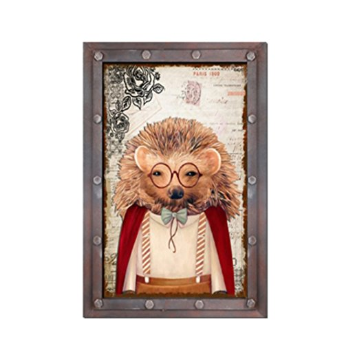er Zeichen Retro Vintage Holz Alt Brille Groß ()