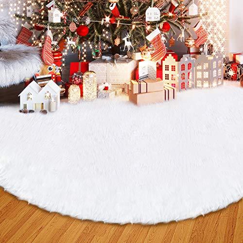 ANLAN Plaid Flocon de Neige Blanc 122 cm