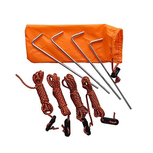 alpscale Outdoor-Zelt-Zubehörset, Nagelpflock mit Hering, Winddicht, Seil, Aufbewahrungstasche, langlebiges Camping-Zubehör, a
