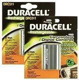 Duracell - Batteria di ricambio per fotocamera digitale Canon BP-511, confezione doppia