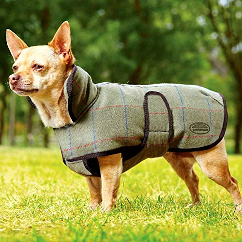 Weatherbeeta Tweed Dog Jacket 65cm Olive