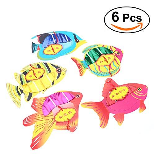 TOYMYTOY Wabenball Deko Hänge Laternen Fisch-Form Papier laternen Pom Poms DIY Wabenkugel Honeycomb Dekorationen - Fisch-laterne