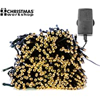 76230 Christmas Workshop Benross 600 LED Chaser String Lights Warm White, Multi Function Flashing Fairy Light, 8 Modes, Indoor & Outdoor - Garden Party Wedding