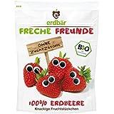 "erdbär Freche Freunde Fruchtchips ""100% Erdbeere"", 12er Pack (12 x 12 g)"