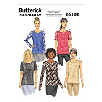Butterick Ladies Easy Sewing Pattern 6100 - Simple Pullover Tops