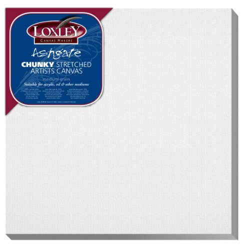 Loxley Colourfull Arts Ashgate Chunky Stretched Artists - Lienzo (30,48 x 30,48cm, 36mm de Ancho), Color Blanco