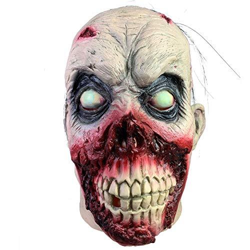 Mörder Kostüm Einfach - YAALO Unheimlich Halloween Cosplay Grusel Maske Geist Gesicht Gesicht Maske Böse Mörder Kostüm Für Erwachsene-A