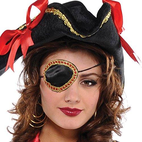Elegante Piraten-Augenklappe Kostüm Zubehör Erwachsene