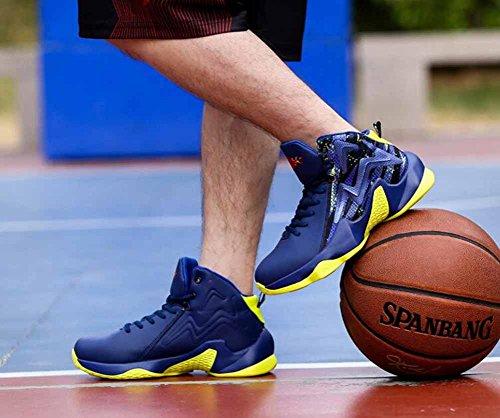 Les Hommes Respirant Baskets De Basket-ball Automne Nouveau Cushioning Formateurs Légers Chaussures De Sport En Plein Air Bleu