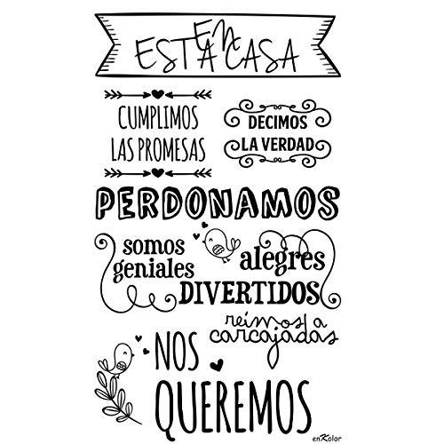 Enkolor/Vinilos Decorativos Frases Normas Casa/Pegatinas