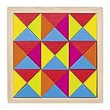 Goki 58586 Legespiel Regenbogen Mosaik aus Holz lasiert, 36-teilig