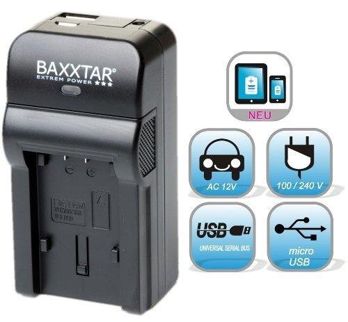 5 in 1 für Sony NP FV50 FV70 FV100 FH50 FH70 FH100 usw. Bundlestar Baxxtar RAZER 600 II (70% mehr Leistung 100% mehr Flexibilität) Ladegerät --- für Sony Camcorder Actioncams siehe Produktinformationen -- NEUHEIT mit Micro USB Eingang und USB-Ausgang, zum gleichzeitigen Laden eines Drittgerätes (GoPro, iPhone, Tablet, Smartphone..)