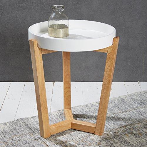 Wholesaler GmbH Beistelltisch mit abnehmbarem Tablett 40 cm Couchtisch Lifestyle Modern Chic