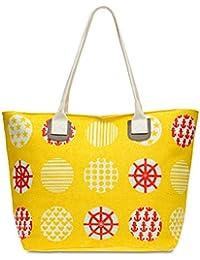 CASPAR TS1021 Grand sac à main en toile pour la plage - Sac shopping XL avec imprimé tendance pour femme