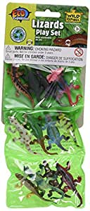 Eco Expedition Lizard Playset: Dozen Plastic Mini Reptile Toy Figures