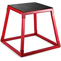 Tecmaqui Cajón de Salto para Fitness 12''/18''/24'' Caja Pliométrica para Entrenamiento de Salto Plyo Box Banco de Salto para Crossfit (12''/30.5cm)