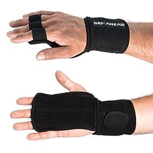 REP AHEAD®️ WODSTERS –2-in-1 Handschutz Wunder – Innovative Fitness-Handschuhe inkl. Handgelenkbandage für Crossfit, Fitness, Gym, Gewichtheben, Bodybuilding, Kraftsport, Turnen, Calisthenics