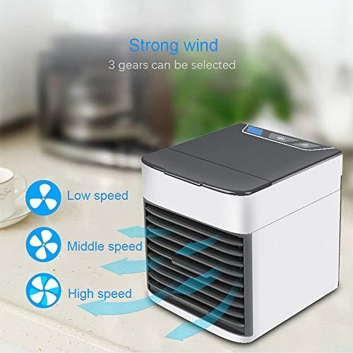 2019 USB Air Cooler Klimaanlage Mini Tragbare Fan Artic Cooler LuftküHler Ventilator, 3-in-1 Kleine Tragbare USB-Air Cooler Mobile Fan Mini AC-Einheit Persönliche Luftraum Luftbefeuchter Luftreiniger