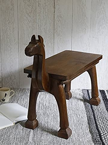 Fathers Day Gift Wooden Horse Bench Seat Entryway Shoe Bench