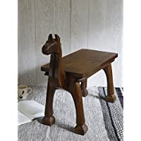 Store Indya, Vintage Style Camel legno Table Stand Portable Outdoor