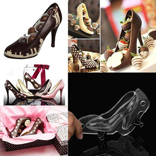 BZLine Silikonform, 3D High Heel Schuh Schokoladenform Candy Kuchen Gelee Form (S) (Schuh Schuhe Candy)