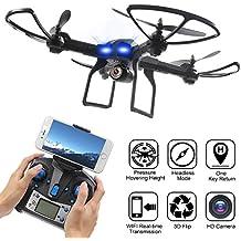 LiDiRC L5W 2.4GHz 6-Axis Gyro Wifi en temps réel Transmission Drone avec 2MP caméra HD 3D Flips Haute Hold Mode Headless mode One Key Retour RC Quadcopter