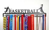 Shangmaidianzi - Soporte para medallas de baloncesto (acero al carbono, dos niveles, montaje en pared), color negro