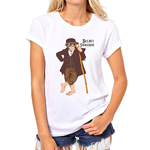 Mr Baggins Swag Damen T-Shirt Weiß