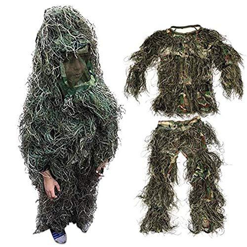 RANRANHOME Ghillie-Anzug - Das Ultimative in der Jagdtarnung, Camo-Ausrüstung für Scharfschützen, Jäger, Paintball & Airsoft, Kinder unter 10 Jahren -