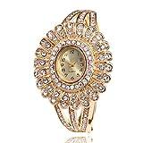Watch Frauen-Handgelenk-Quarz-Uhr-Armband-Edelstahl-Band-Diamant-Mode