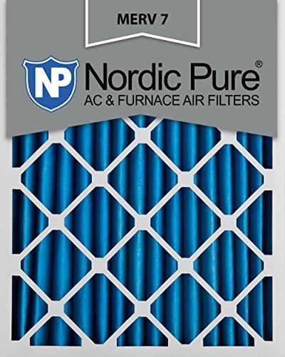 Nordic Pure 16x 20x 2m7-3MERV 7Bundfaltenhose AC Ofen Air Filter, 16x 20x 2, Box of 3 - Merv 7 Ofen-filter