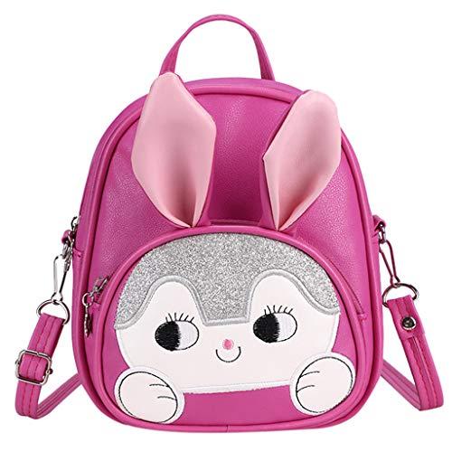 Ledertasche, Schultertasche, Geschenk, Handgefertigte Tasche,Neue Cartoon Kindergarten Rucksack Cartoon niedlichen Kind Tasche Bunny Child Backpack ()