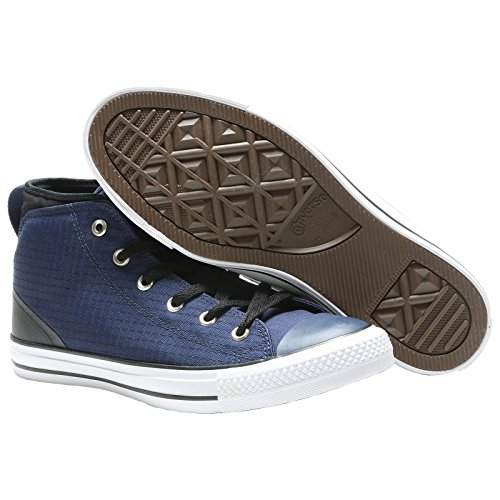 Converse Mens Chuck Taylor All Star Syde Street Mid Canvas Trainers Midnight Navy Black