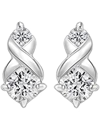 Peora Sterling Silver Rhodium Plated Alana Earring For Women