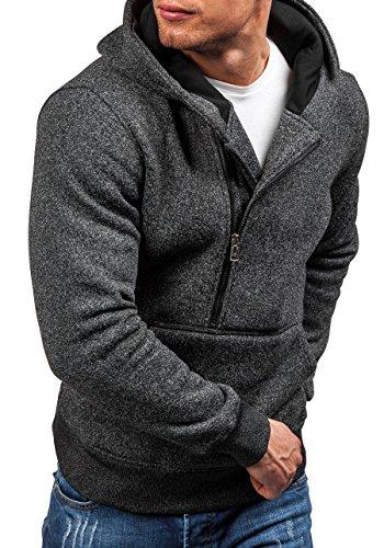 BOLF Herren Kapuzenpullover Sweatshirt Kapuze Pullover Sweatshirt Herrenmode New T&C STAR TC20 Schwarz