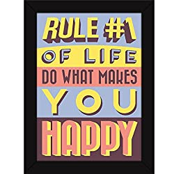 Motivational Inspirational Attitude Quotes - Do what makes you happy - Fatmug FRAMED Poster