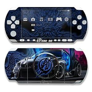 Sony PSP 3000 Skin Gehäuse Tattoo modding Aufkleber + Menü Wallpaper – The SLK