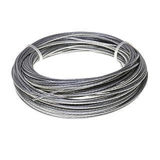 Stahlseil / Drahtseil in Edelstahl oder Verzinkt, 1,2,3,4,5,6,10,11 mm (4 mm, Edelstahl)