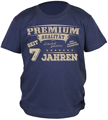 Unbekannt 7.Geburtstag Sprüche T-Shirt Kindergeburtstag Junge : Premium Qualität Seit 7 Jahren - Kindershirt 7 Geburtstag DEKO 7 Jahre Gr: - Geburtstags-shirt 7.