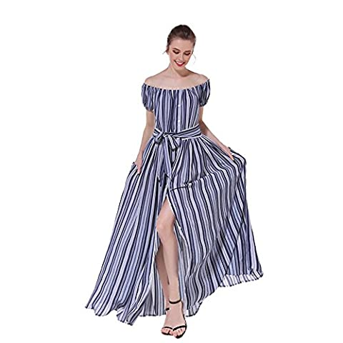 Years Calm - Robe spécial grossesse - Ajourée - Manches Courtes - Femme bleu bleu - bleu - 40