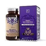 FS Trans Resveratrol [150mg], Antioxidant & Anti-Veroudering Supplementen | Hoge Sterkte Extract | 60 Veganistische Capsules | Natuurlijk Geproduceerd, Krachtig Superfood Supplement — GMO-Vrij